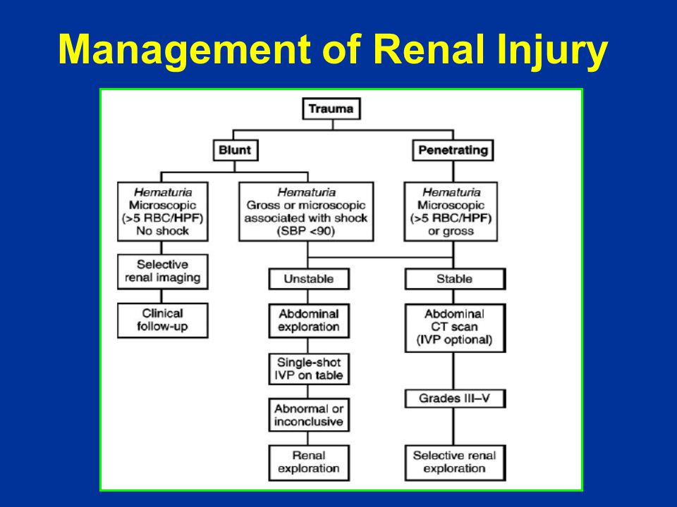 Management of Renal Injury