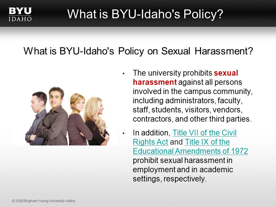 Sexual harassment laws idaho