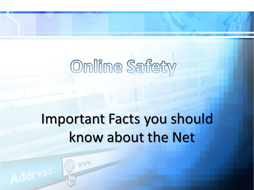 Important Facts you should know about the Net