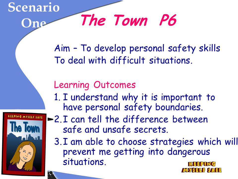 The Town P6 Scenario One Aim – To develop personal safety skills