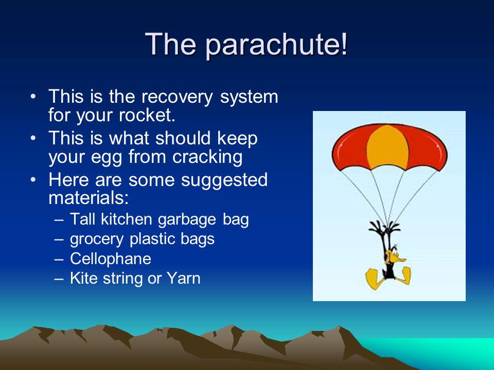 water bottle rocket parachute