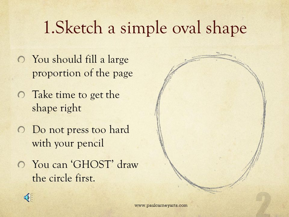 1.Sketch a simple oval shape