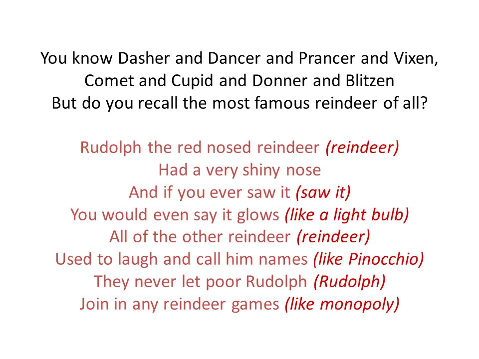 rudolph rumpus rudolph the red nosed reindeer had a very shiny nose ppt download rudolph rumpus rudolph the red nosed