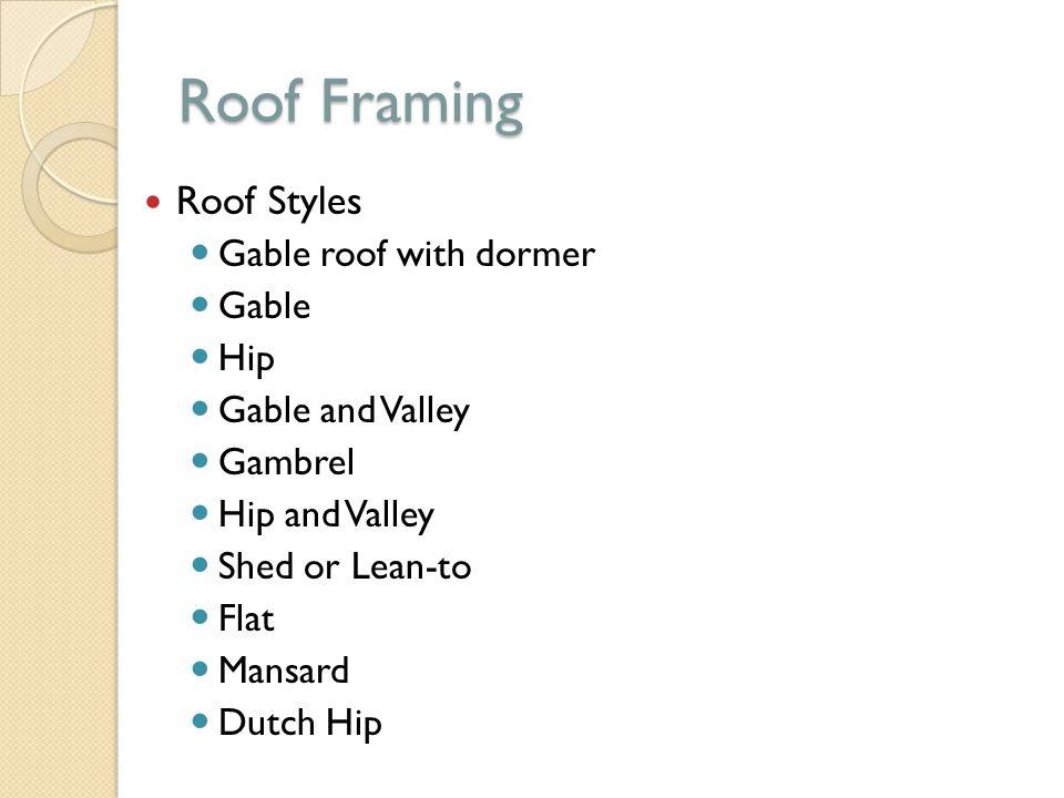 Roof Framing Unit ppt video online download