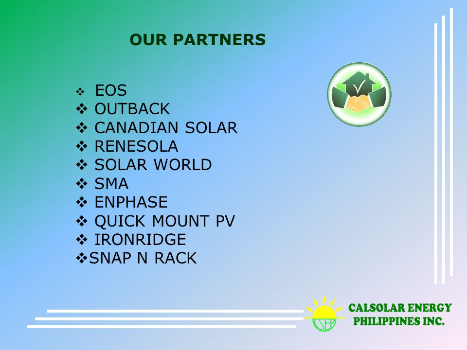 WELCOME CalSolar Energy Philippines Inc  - ppt download