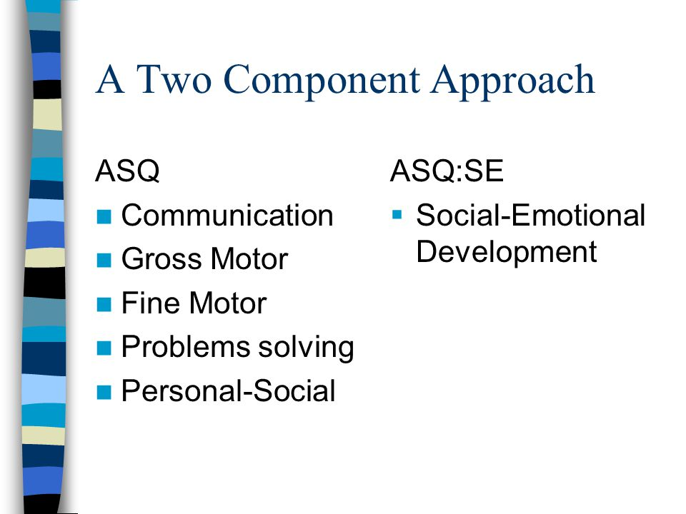 The Socialemotional Component Of >> Ages Stages Questionnaires Social Emotional Ppt Download