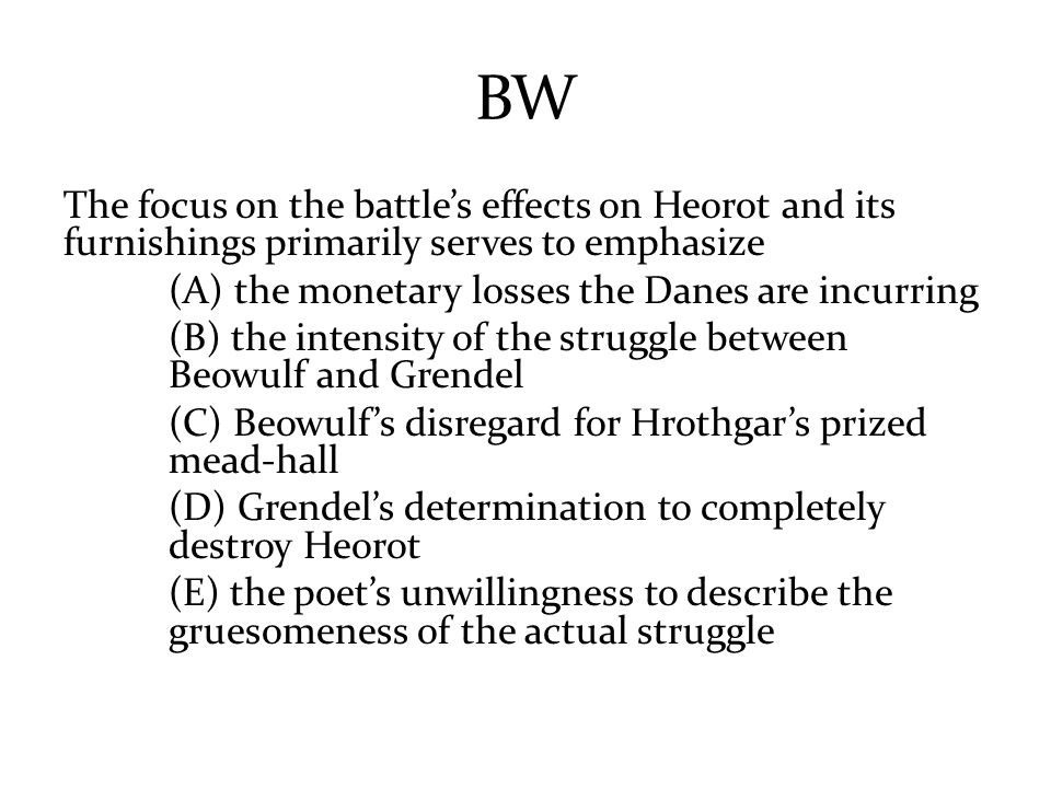 the main struggle in beowulf is between