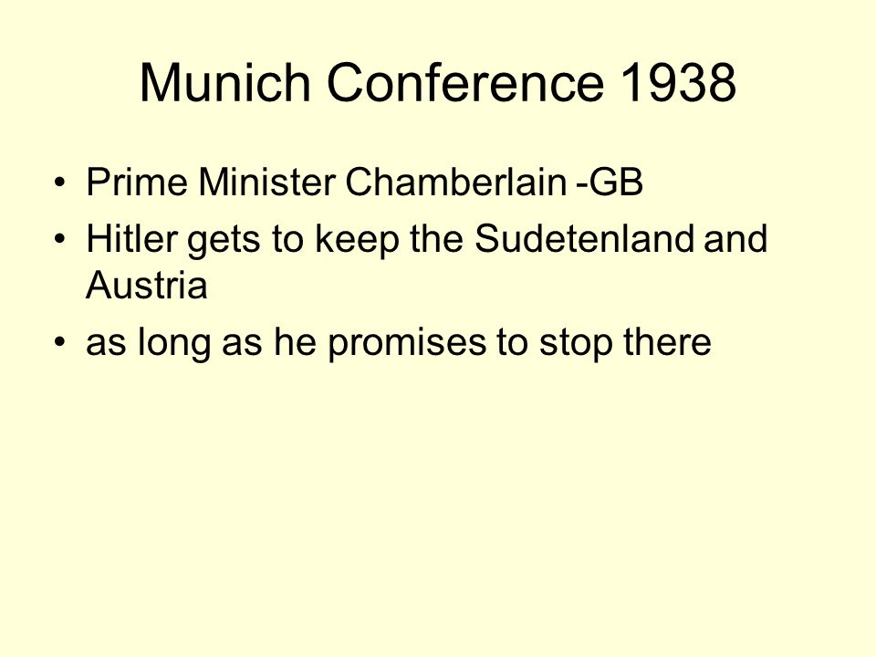 Munich Conference 1938 Prime Minister Chamberlain -GB