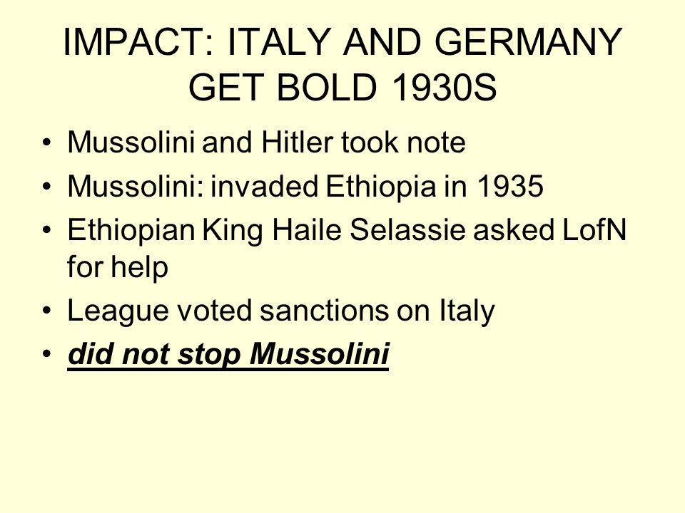 IMPACT: ITALY AND GERMANY GET BOLD 1930S