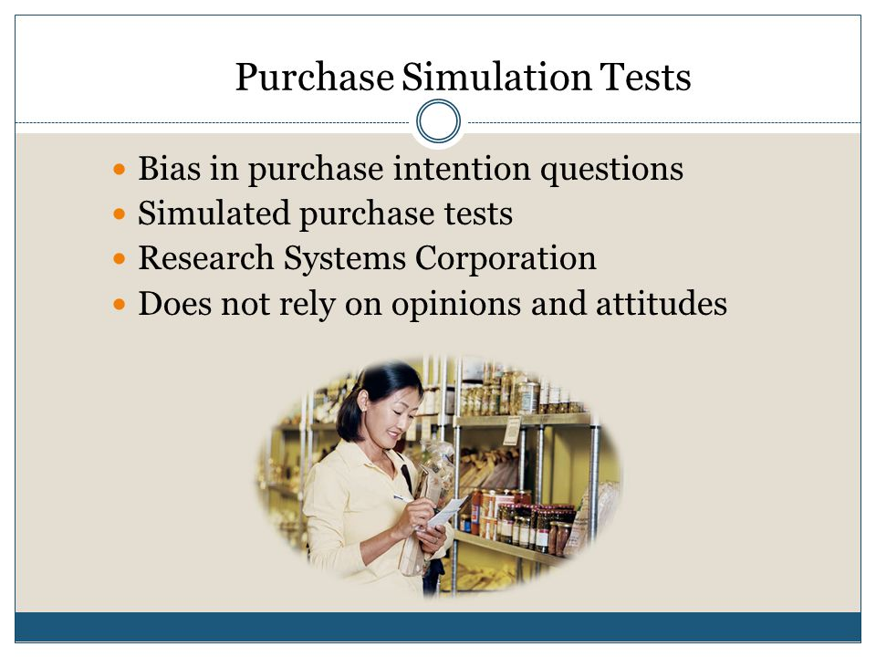 Purchase Simulation Tests