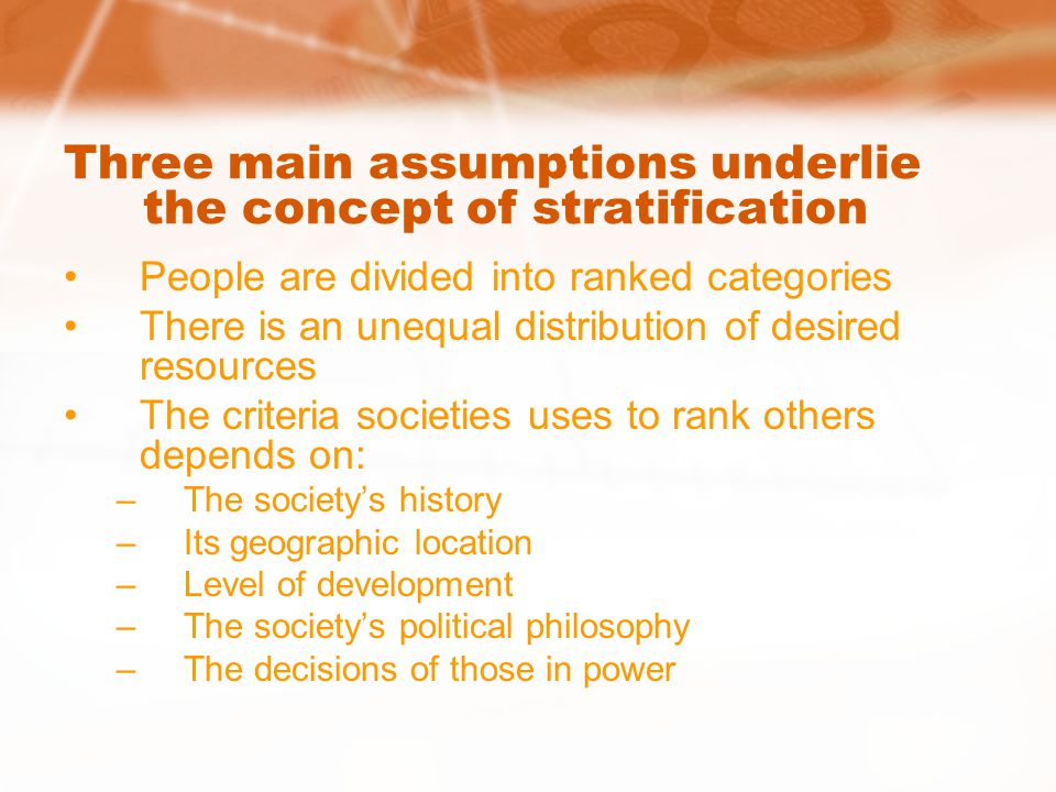 Stratification: Rich and Famous—or Rags and Famine? - ppt