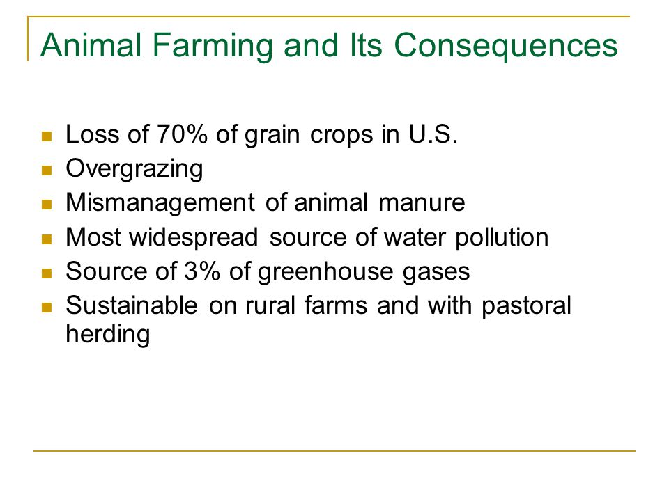 Animal Farming and Its Consequences