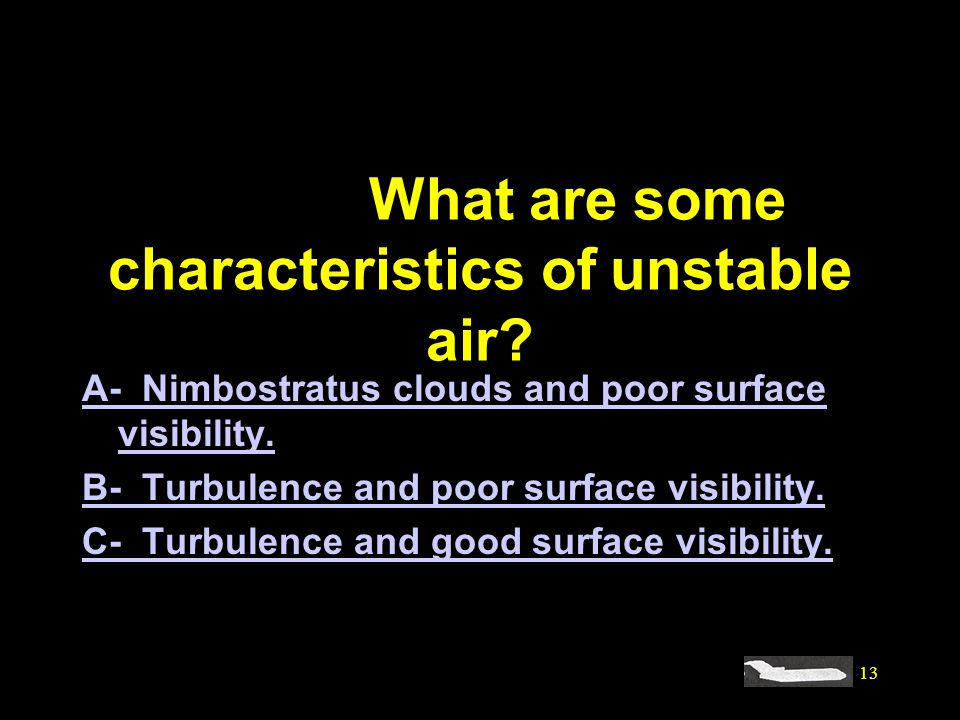 #4120. What are some characteristics of unstable air