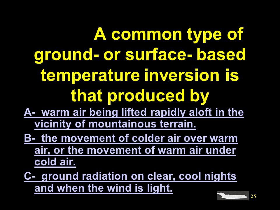 #4094. A common type of ground- or surface- based temperature inversion is that produced by