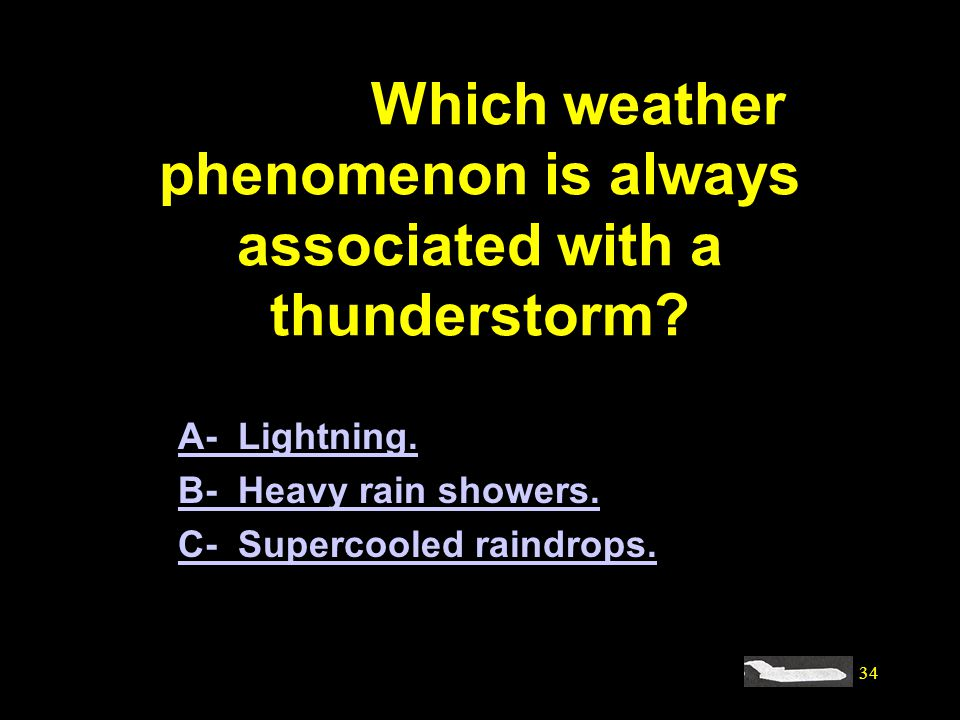 #4144. Which weather phenomenon is always associated with a thunderstorm