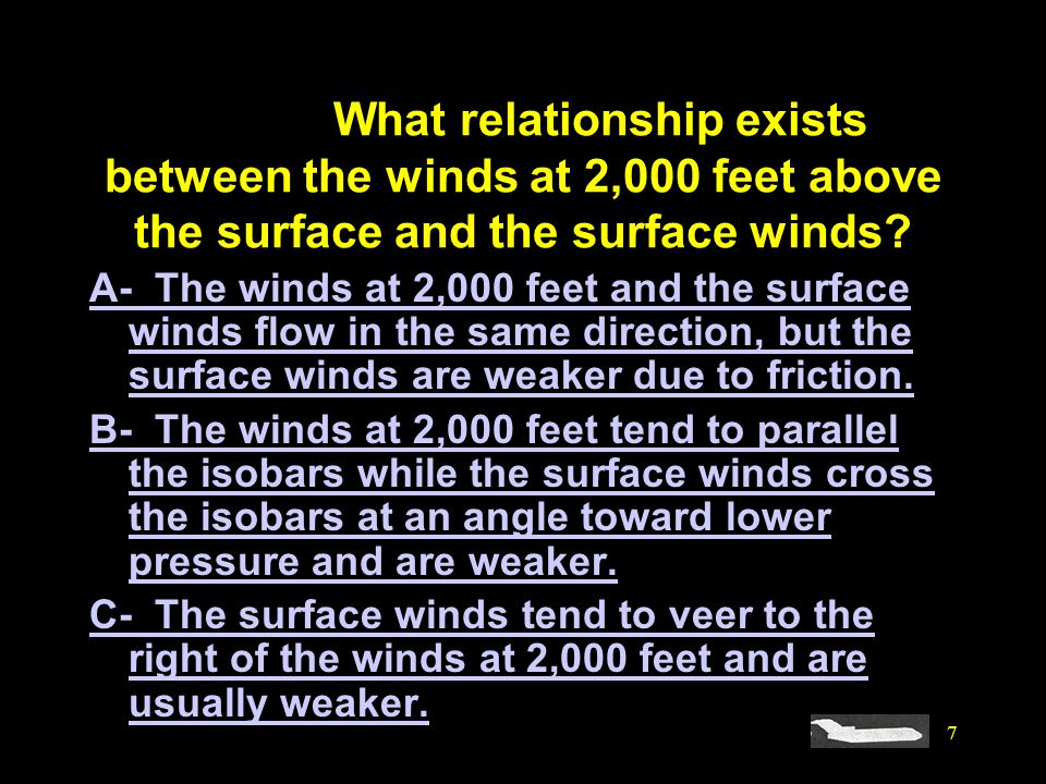 #4107. What relationship exists between the winds at 2,000 feet above the surface and the surface winds