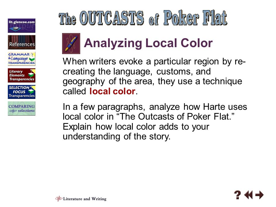 The outcasts of poker flat character analysis. Outcasts of ...