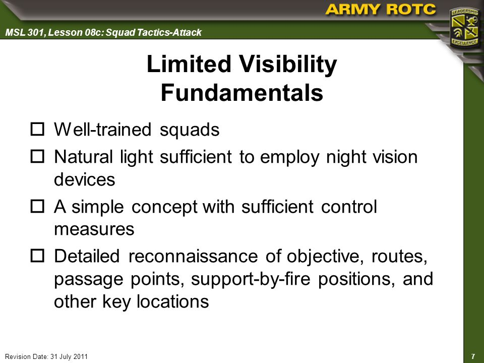 Limited Visibility Fundamentals