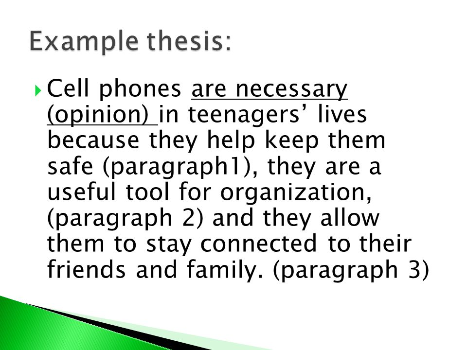 Example thesis: