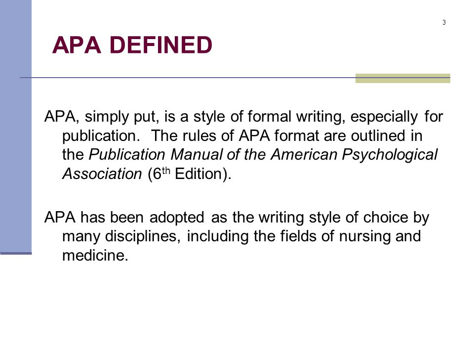 The Basics Of APA Format Ppt Video Online Download