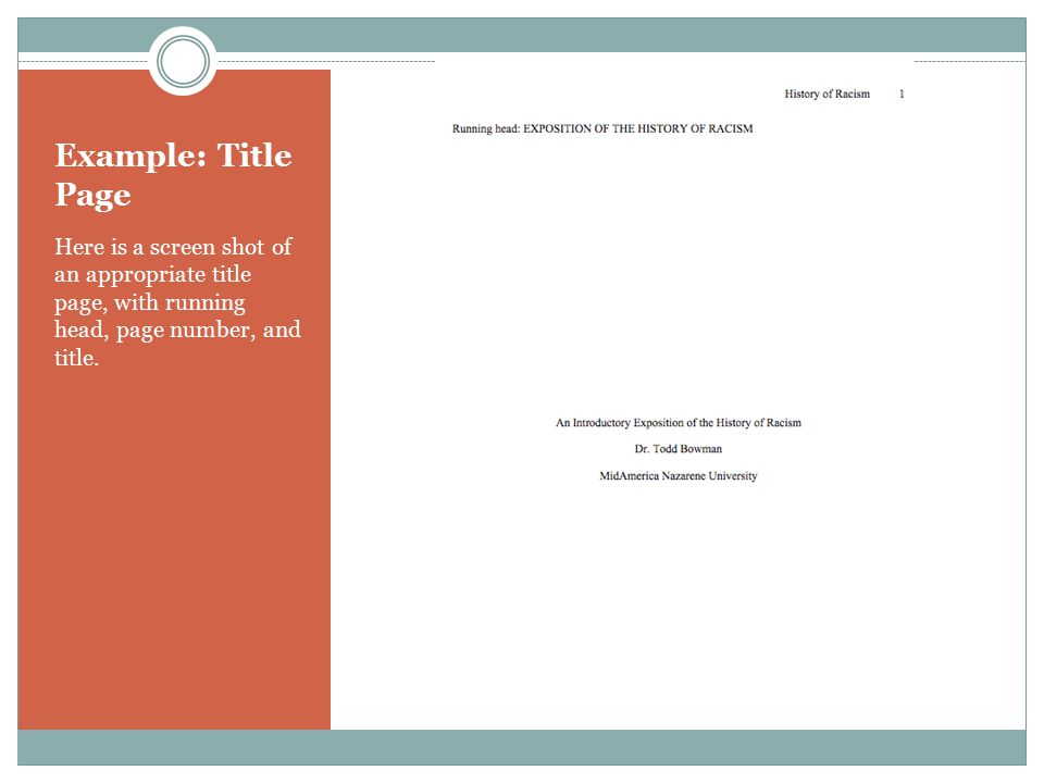 Apa Tutorial Part I Formatting Your Paper Ppt Download