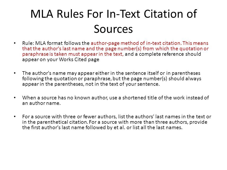 in text citations mla format for websites