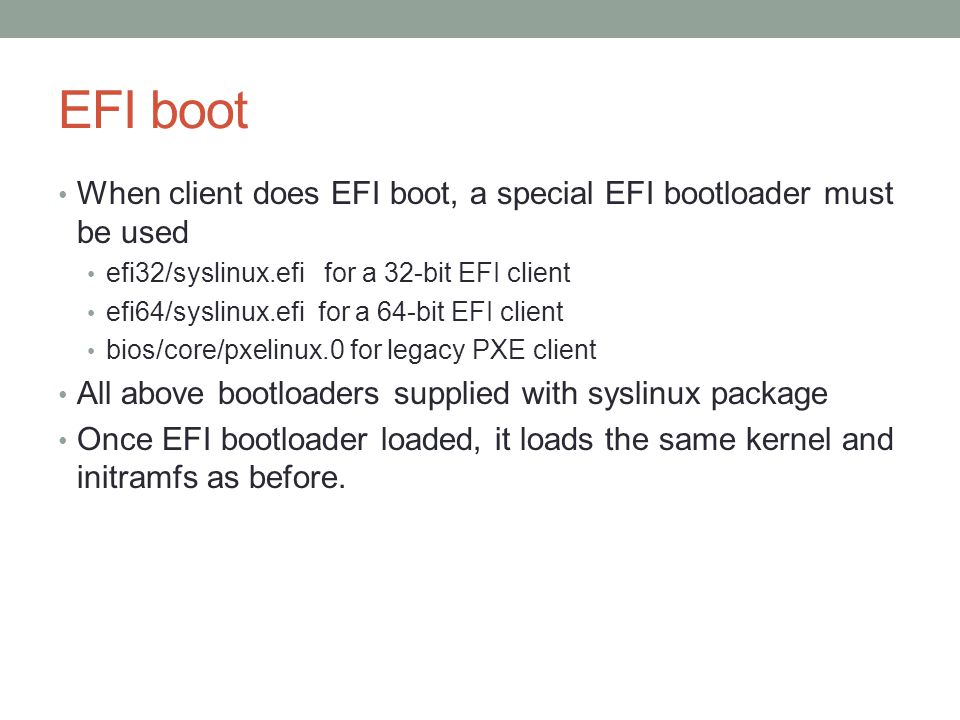 Creating a [legacy & EFI] PXE server using pxelinux - ppt video