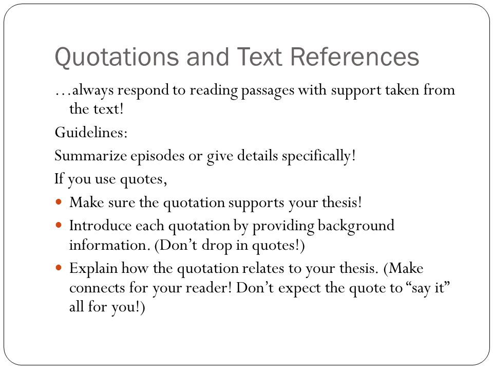 Quotations and Text References