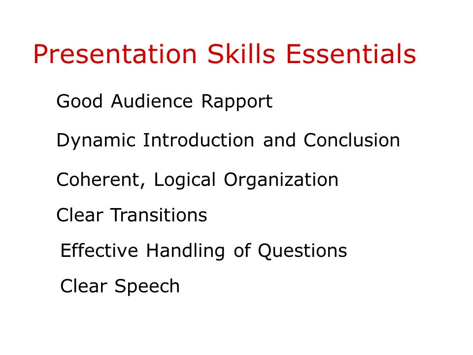 Presentation Skills Essentials