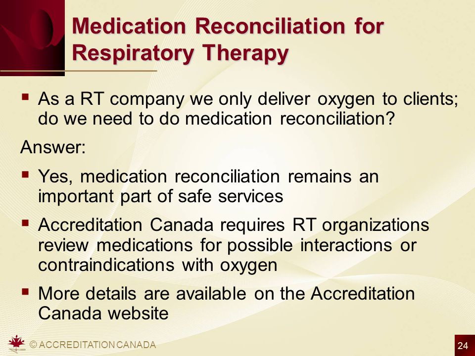 Medication Reconciliation for Respiratory Therapy
