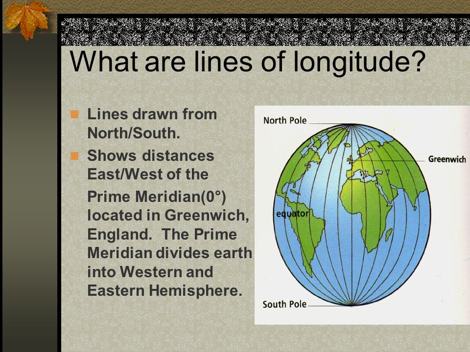 What are lines of longitude