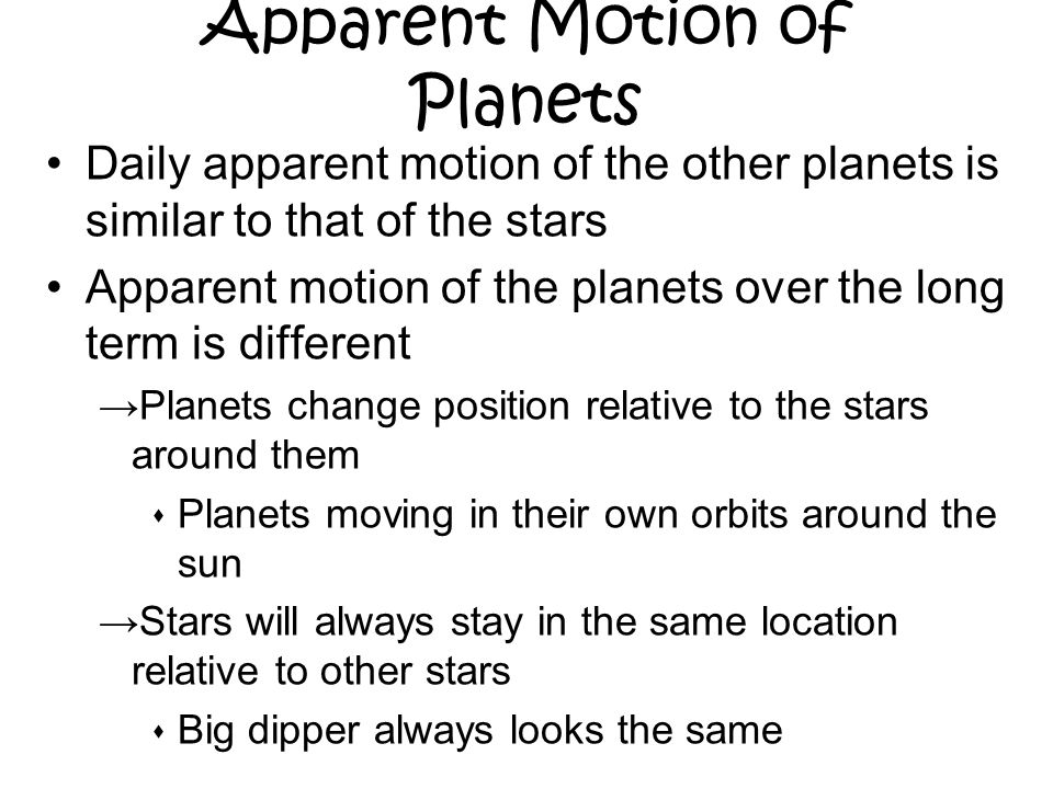 what is apparent movement
