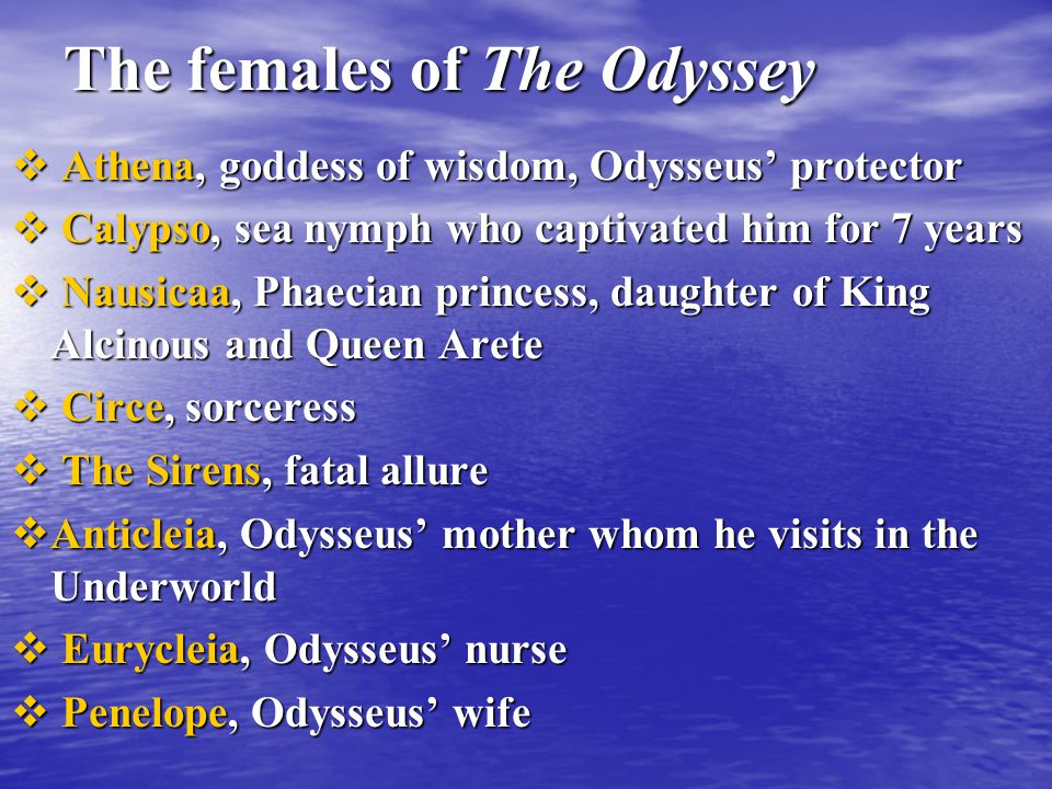females in the odyssey