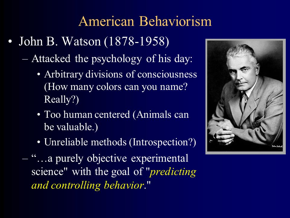 who founded american behaviorism