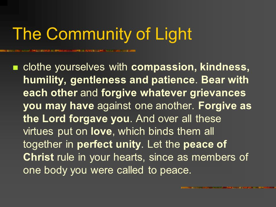 The Community of Light