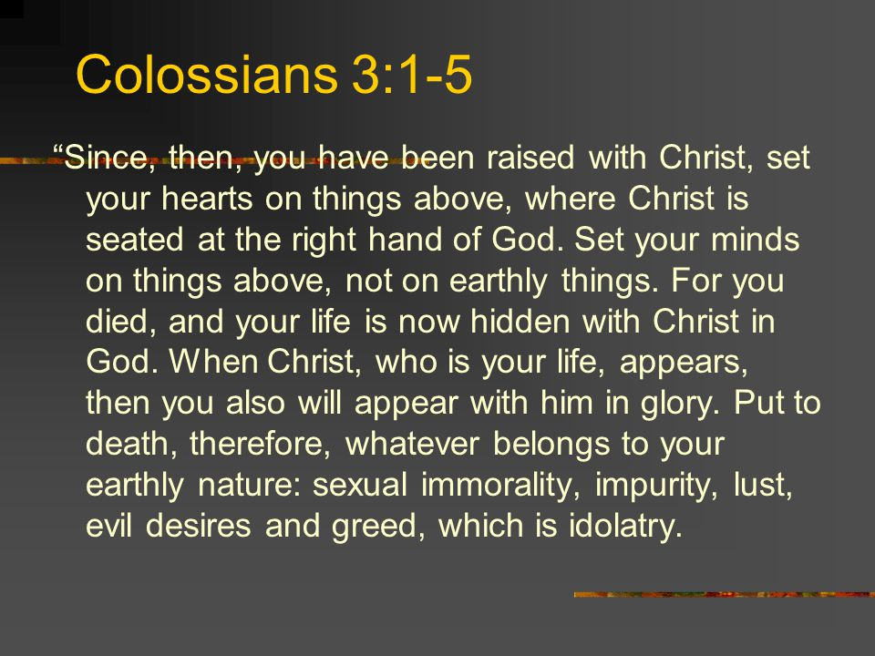 Colossians 3:1-5