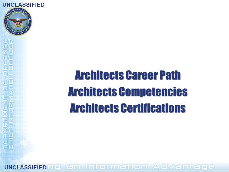 Architects Career Path Architects Competencies
