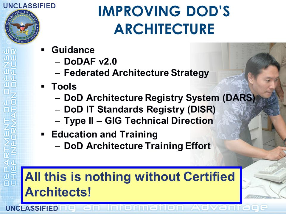 IMPROVING DOD'S ARCHITECTURE