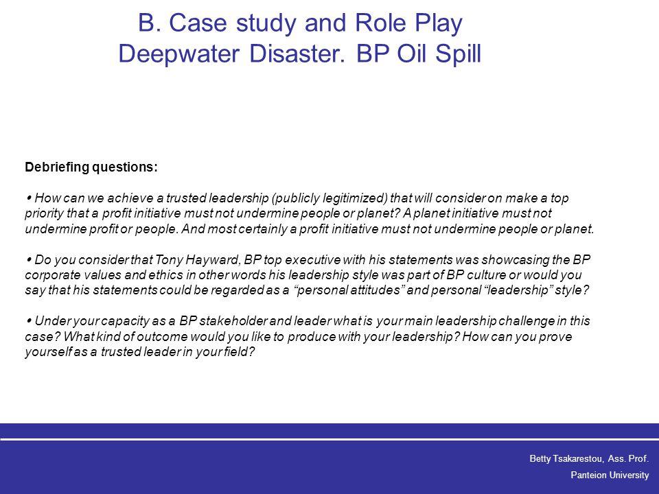 bp oil spill case study ethics