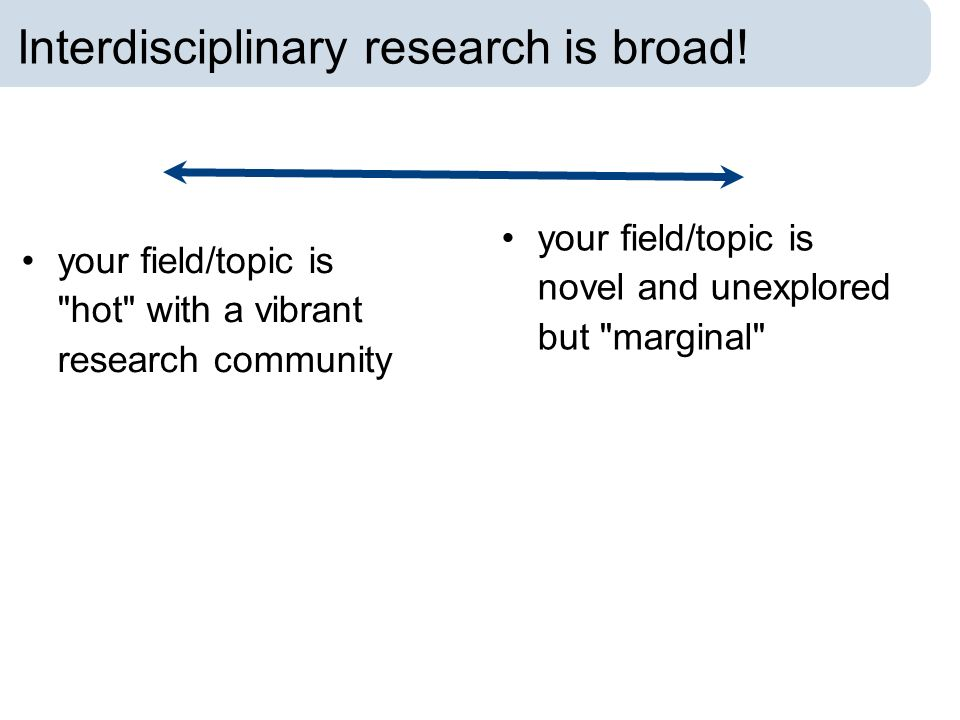 Interdisciplinary research is broad!