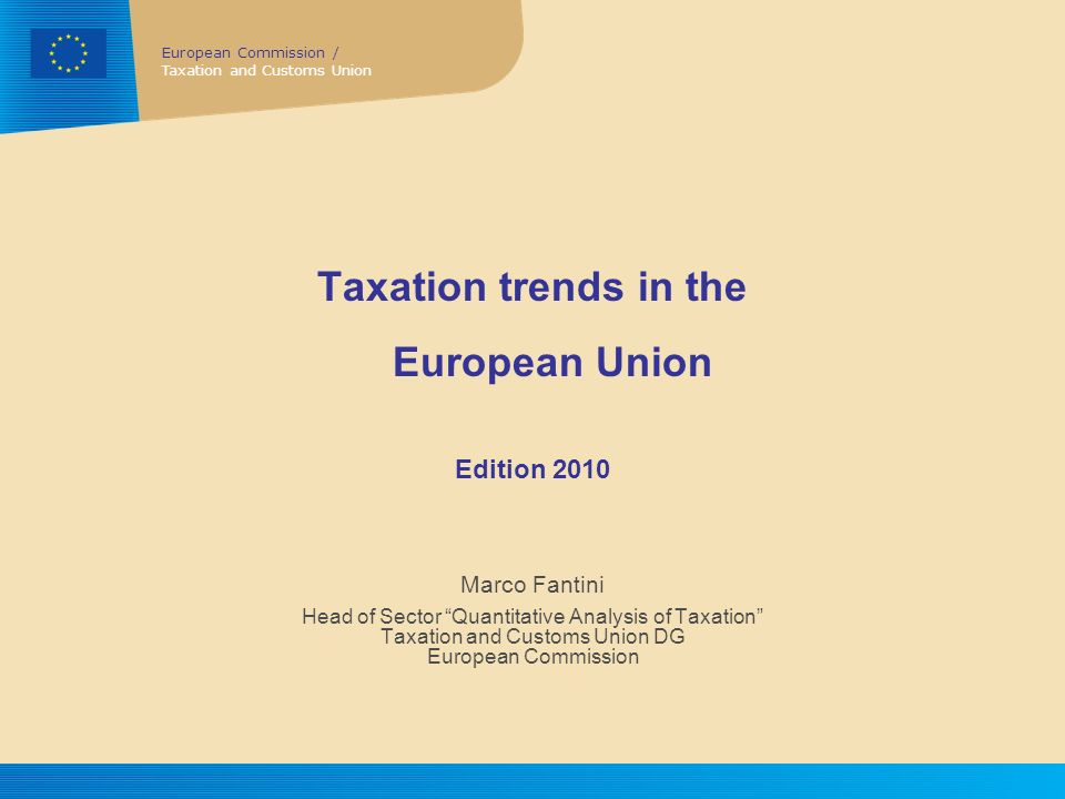 Taxation trends in the European Union