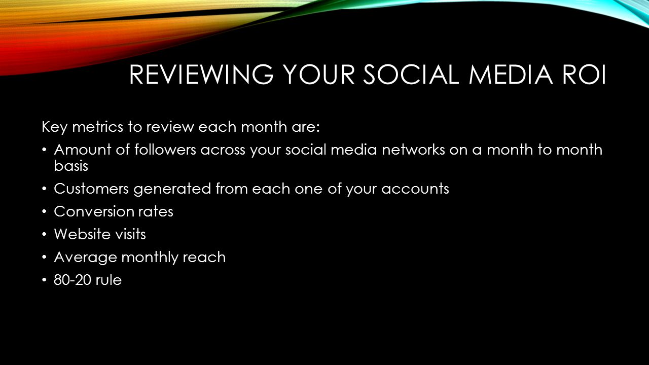 Reviewing your social media roi