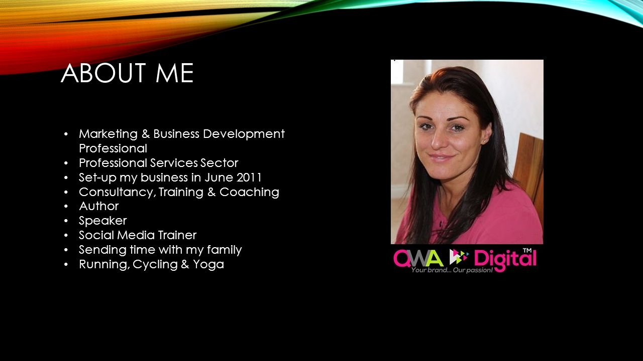 About Me Marketing & Business Development Professional