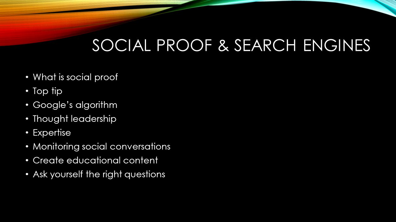 Social proof & searcH engines