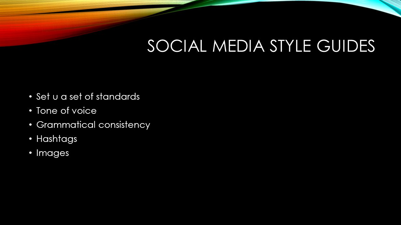 Social media Style guides
