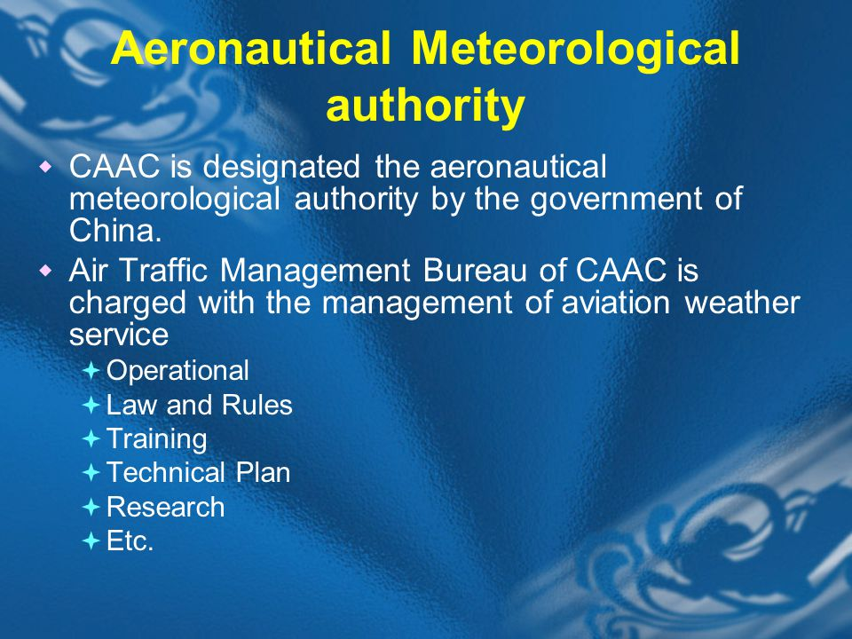 Aeronautical Meteorological authority