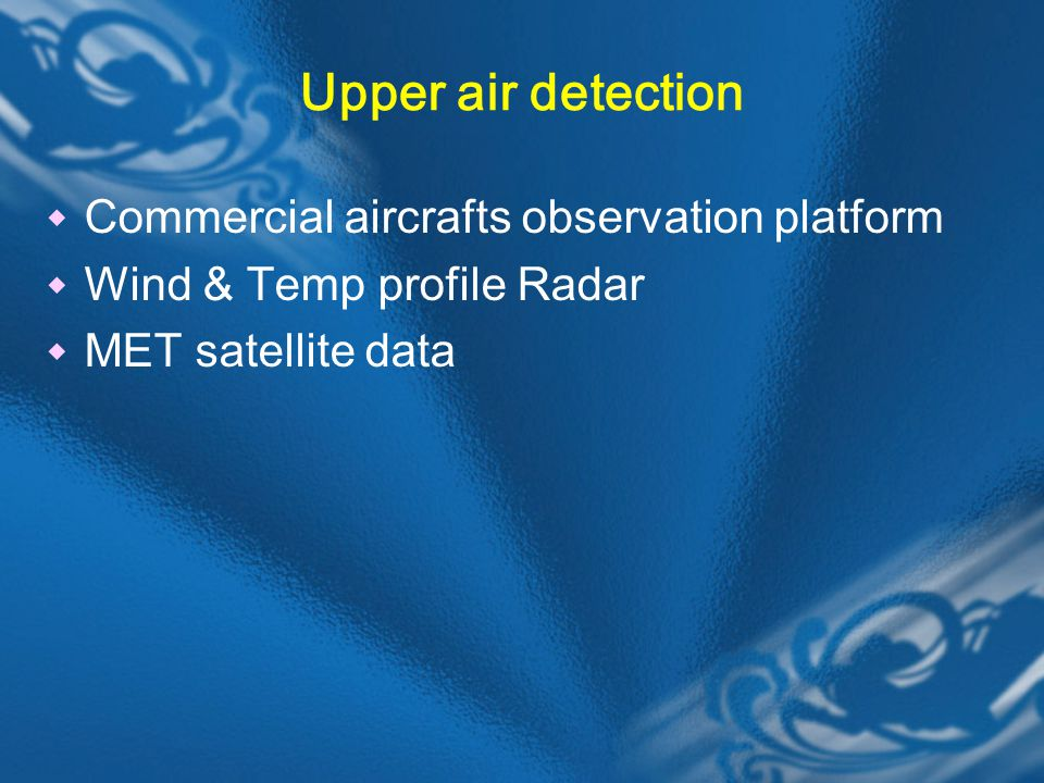 Upper air detection Commercial aircrafts observation platform