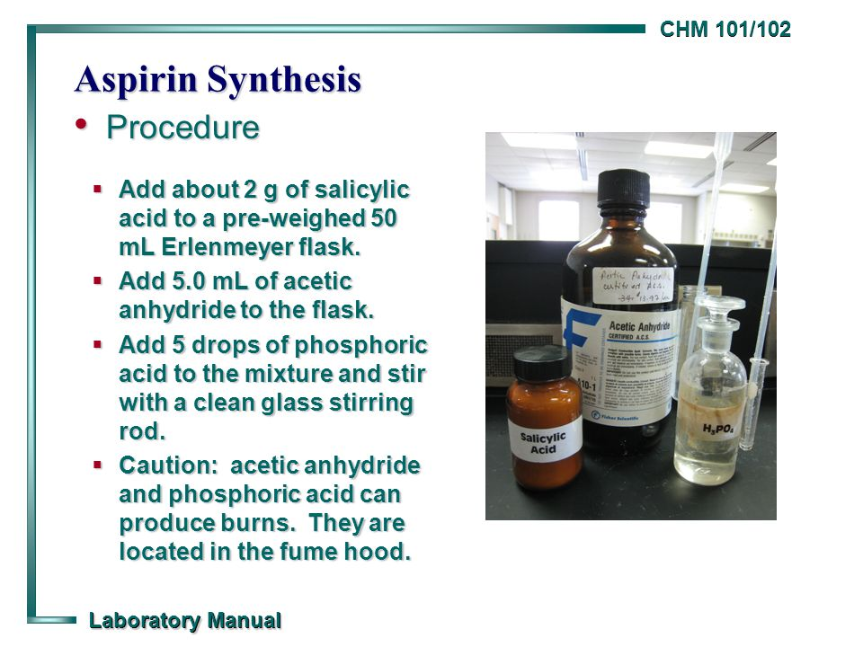preparation of asprin