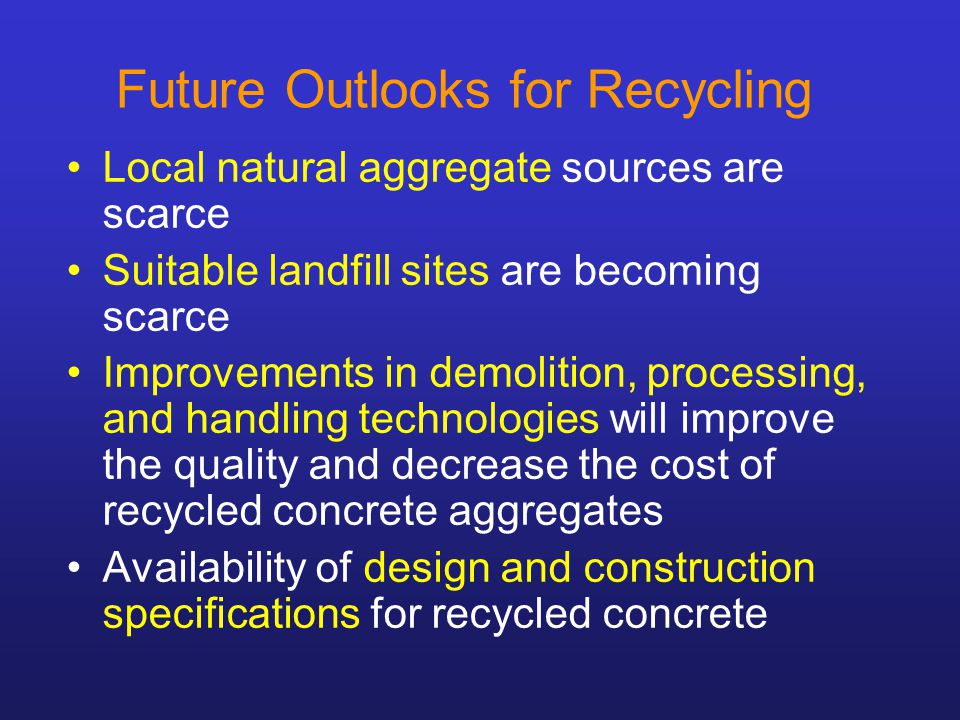 SUSTAINABLE CONCRETE TECHNOLOGY – CHALLENGE AND OPPORTUNITY