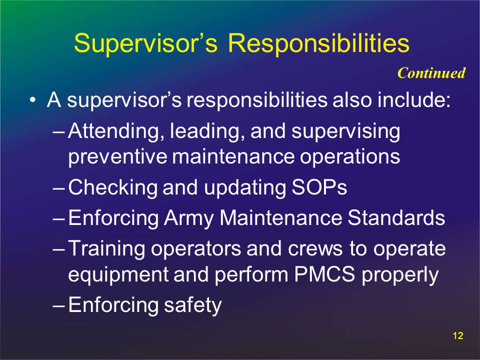 Motor Pool and Maintenance - ppt download